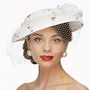 レース ファブリック ネット かぶと-結婚式 パーティー ヘッドドレス ハット バードケージベール 1個