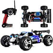 Coche de radiocontrol  WL Toys A959 2.4G Off Road Car Alta Velocidad 4WD Drift Car Buggy 1:18 Brush Eléctrico 45 KM / H Control remoto