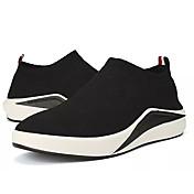 Hombre Zapatos Tul Primavera Otoño Confort Zapatillas de deporte para Deportivo Casual Negro