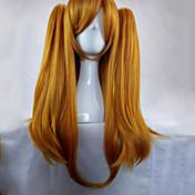 Pelo sintético pelucas Corte Recto Trenzas africanas Peluca con trenzas Con coleta Sin Tapa Peluca de cosplay Larga Rubio