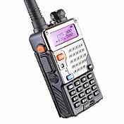 baofeng uv-5re uhf vhf walkie talkie 5w 128 canales de radio bidireccional para la caza de doble pantalla