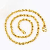 Hombre Serpiente Forma Geométrica Personalizado Punk Hip-Hop Rock Joyería Destacada Collares de cadena Chapado en Oro Collares de cadena ,