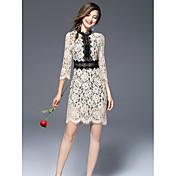 女性用 スリム シース ドレス - プリント, 多色 スタンド