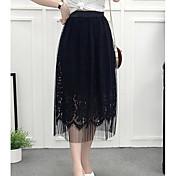 Mujer Sofisticado Columpio Faldas Un Color