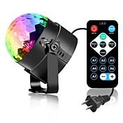 youoklight 3 w rgb mini portátil 3led etapa mágica luz UV sonido activo led giratoria bola de la bola mágica para ktv club de discoteca