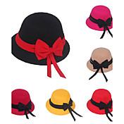 Sombreros y Gorras Niñas,Invierno Otoño Mezcla de Lana Negro Rojo Amarillo Fucsia Caqui