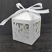Cúbico Papel perlado Soporte para regalo  Con Cintas Cajas de regalos