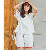 レディース お出かけ 夏 Tシャツ(21) パンツ スーツ,シンプル ラウンドネック ソリッド 半袖