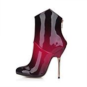 Mujer Botas Botas de Moda PU Primavera Otoño Boda Vestido Fiesta y Noche Negro Negro/Rojo 10 - 12 cms