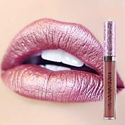 brillo labial brillo maquillaje pigmento oro desnudo sirena color lipgloss brillo metálico líquido labial brillo labial