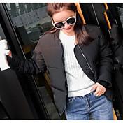 コート ダウン レディース,カジュアル/普段着 ソリッド その他 ポリプロピレン-シンプル 長袖
