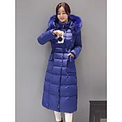 Dámské Dlouhé Dlouhý kabát Jednoduché Běžné/Denní Jednobarevné-Kabát Bavlna Jiné Polypropylen Dlouhý rukáv