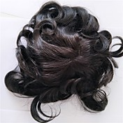 hairline natural suizo del pelo humano del toupee de los hombres del cordón color de 8 * 10inch 1b para los hombres