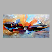 手描きの 抽象画 横式,抽象画 1枚 キャンバス ハング塗装油絵 For ホームデコレーション
