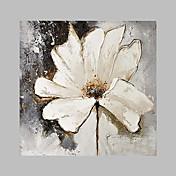 手描きの 花柄/植物の アーティスティック 屋外 1枚 キャンバス ハング塗装油絵 For ホームデコレーション