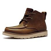 Hombre Zapatos Cuero Otoño Invierno Botas Camperas Botas Botines/Hasta el Tobillo Con Cordón Para Casual Negro Marrón