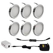 6pcs 2w家具の照明のためのオン/オフスイッチ付きキャビネットパックライトの下で導かれた暖かい白いコールドホワイト85-265v