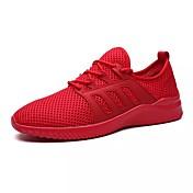 Hombre Zapatos Primavera Otoño Confort Paseo Con Cordón para Al aire libre Blanco Negro Gris Rojo