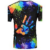 メンズ カジュアル/普段着 Tシャツ,シンプル ラウンドネック カモフラージュ コットン 半袖