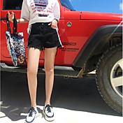 Mujer Casual Tiro Alto Rígido Perneras anchas Shorts Pantalones,Un Color Verano