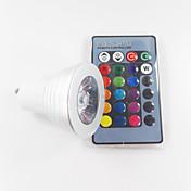 GU10 Focos LED MR16 1 leds LED de Alta Potencia Regulable Control Remoto Decorativa RGB 300lm RGBK AC 100-240V