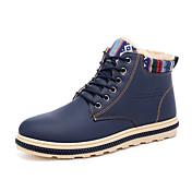 Hombre Zapatos Semicuero Primavera Verano Botas de nieve Botas Botines/Hasta el Tobillo Con Cordón Para Casual Negro Amarillo Azul