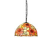 diámetro 30cm tiffany luces colgantes pantalla de lámpara de vidrio sala de estar dormitorio luminaria comedor