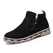 Hombre Zapatos PU Invierno Botas de Combate Botas Mitad de Gemelo Cremallera Para Casual Negro Marrón Azul