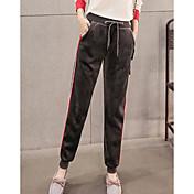 Mujer Casual Tiro Medio Microelástico Perneras anchas Pantalones,Bloques Invierno Otoño