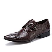 Hombre Zapatos Cuero Primavera Otoño Zapatos formales Zapatos de boda Para Boda Fiesta y Noche Negro Café
