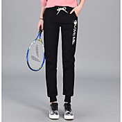 Mujer Activo Tiro Medio Microelástico Pantalones de Deporte Pantalones,Un Color Letra Invierno Otoño