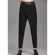 Mujer Simple Tiro Alto Elástico Ajustado Pantalones,Ajustado Un Color