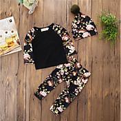 Bebé Conjunto de Ropa Niños Diario Casual Floral Patrón Algodón Acrílico Manga Larga Primavera/Otoño Primavera, Otoño, Invierno, Verano
