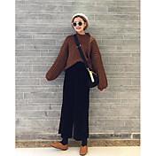 Mujer Simple Tiro Alto Microelástico Pantalones Pantalones,Pantalones Un Color