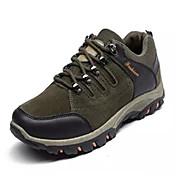 メンズ 靴 レザー 春 秋 ライト付きソール アスレチック・シューズ ハイキング 編み上げ 用途 カジュアル ブラック グレー アーミーグリーン