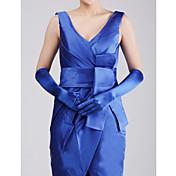 longitud del codo de satén guante fiesta / guantes de noche estilo femenino clásico