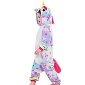 Pijama kigurumi Caballo volador Unicorn Pijama Mono Pijamas Disfraz Franela Rosado Blanco Azul Piscina Púrpula Amarillo Cosplay por Niño