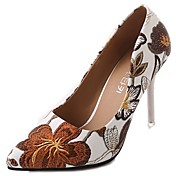 Mujer Zapatos PU Primavera Otoño Confort Tacones Tacón Stiletto Dedo Puntiagudo para Casual Negro Café Rosa