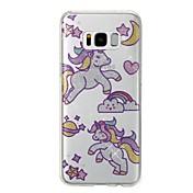 Funda Para Samsung Galaxy S8 Plus S8 IMD Diseños Cubierta Trasera Unicornio Brillante Suave TPU para S8 Plus S8 S7 edge S7