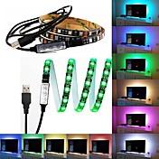 5v usb led strip 5050 rgb 60leds / m con 17key rf controller 1m set