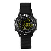 Reloj elegante Visualización de Tiempo Resistente al Agua Calorías Quemadas Podómetros Distancia de Monitoreo Recordatorio de Mensajes
