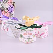 Square Shape Papel de tarjeta Soporte para regalo  con Cintas Cajas de regalos - 25pcs