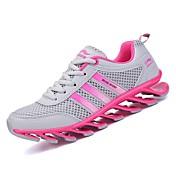 Mujer Zapatos Malla respirante PU Primavera Otoño Confort Zapatillas de Atletismo Running Tacón Plano Dedo redondo para Deportivo Casual
