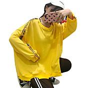 レディース カジュアル/普段着 スウェットシャツ カラーブロック コットン ポリエステル