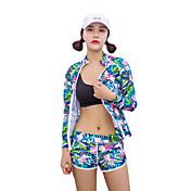HISEA® Mujer Traje de buceo Resistente al Viento, SPF50, Protección solar UV Nailon / Neopreno / Esponja Manga Larga Bañadores Ropa de playa Trajes de buceo Geométrico / Resistente a los rayos UV