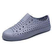Hombre Zapatos PU Primavera Verano Confort Sandalias para Casual Blanco Negro Gris Azul