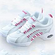 Mujer Zapatillas de Baile Tela / Tul Zapatilla Corte Tacón Bajo Personalizables Zapatos de baile Rosado y Blanco
