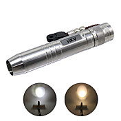 HKV Linternas LED LED 400-500lm 2 Modo de Iluminación Portátil / Profesional Camping / Senderismo / Cuevas / De Uso Diario Plata
