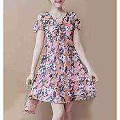 Mujer Línea A Vestido Floral Sobre la rodilla
