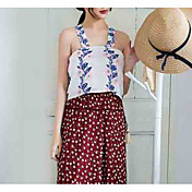 Mujer Tank Tops, Halter Floral